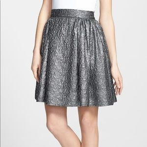 kate spade Skirts - Kate spade aimee metallic textured pleat skirt